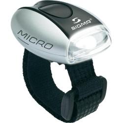 Мигалка передняя Sigma Micro серо-черная