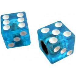 Колпачки для камеры TW V-011А игральные  кости пластиковые авто 2 шт.