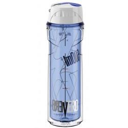 Термо- фляга Elite Vero 500ml синяя прозрачная