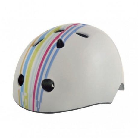 Шлем BELLELLI Tiglia STRIPS M белый