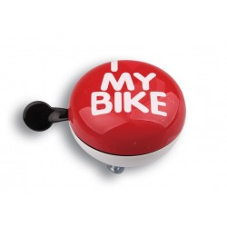 Звонок Green Cycle GCB-1058S бело-красный